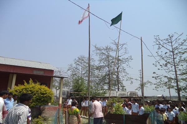 Flag Hosting For Bihu Celebration